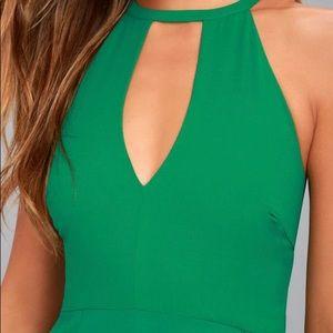 Lulu's Dresses - lulus green maxi dress
